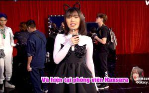 Han Sara giả làm phóng viên, phỏng vấn 'lầy lội' Uni5 trong hậu trường The Heroes 2021