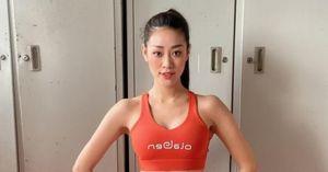 Hoa hậu Khánh Vân chăm chỉ rèn luyện thể lực trong khu cách ly