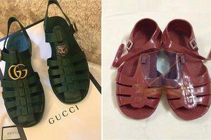Sandal Gucci hàng hiệu 11 triệu đồng giống dép rọ bộ đội Việt Nam