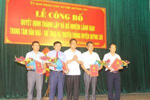 Bổ nhiệm Giám đốc Trung tâm VH-TT&TT huyện Quỳnh Lưu