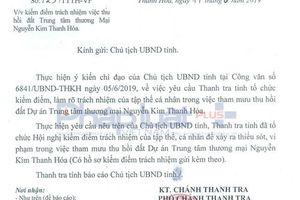 Lãnh đạo Thanh tra tỉnh Thanh Hóa bị kỷ luật vì tham mưu trái luật
