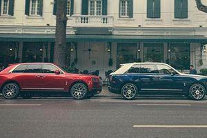 Cận cảnh 2 chiếc Rolls-Royce Cullinan giá 100 tỷ trên phố