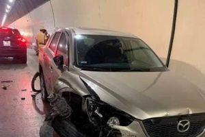 Nam thanh niên lái xế hộp đâm hàng loạt xe trong hầm Hải Vân
