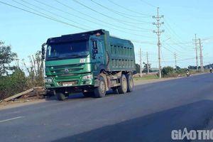 Đoàn xe 'có ngọn' cày nát đường nội thị An Nhơn: Bất ngờ đổi ký hiệu logo?