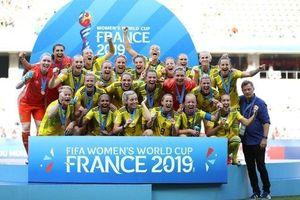 Thụy Điển giành Huy chương Đồng World Cup nữ 2019