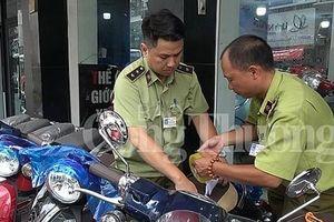 Hà Nội: Tạm giữ hàng chục xe gắn máy có dấu hiệu vi phạm quy chuẩn kỹ thuật