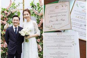 Thực đơn sang chảnh tại trung tâm tiệc cưới Cường Đô la và Đàm Thu Trang