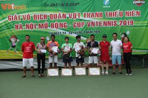 Sôi động giải quần vợt thanh thiếu niên Hà Nội mở rộng VNTennis 2019