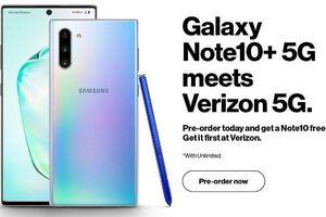 Nhà mạng Mỹ 'chơi sang' tặng kèm Galaxy Note10 cho khách đặt trước bản Note10+ 5G