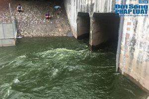 Hà Nội tiếp tục xả nước hồ Tây vào sông Tô Lịch để ứng phó với cơn bão số 3