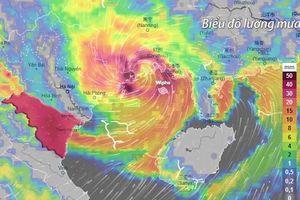 Bão Wipha gây mưa lớn, nguy cơ ngập lụt cho các đô thị