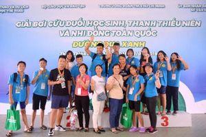 Hà Nội xếp thứ 3 toàn đoàn giải Bơi cứu đuối học sinh, thanh thiếu nhi toàn quốc
