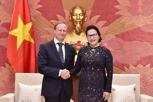 Chủ tịch Quốc hội tiếp Đại sứ-Trưởng phái Đoàn EU tại Việt Nam