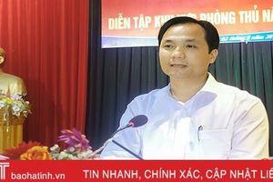 Diễn tập khu vực phòng thủ năm 2019 huyện Can Lộc đáp ứng yêu cầu đặt ra