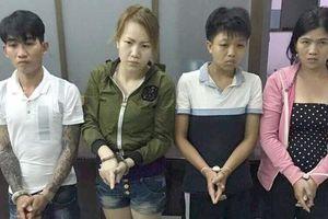 Nhóm nghiện ở ngoại thành TP HCM bị tóm lúc nửa đêm