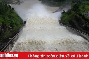 Thủy điện Bá Thước 2 xả lũ với lưu lượng từ 300 đến 2.000m3/s
