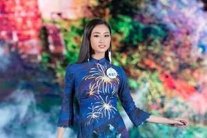 Áo dài hình ảnh đèo Hải Vân giúp Lương Thùy Linh đăng quang