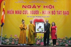 Phó Thủ tướng Trương Hòa Bình dự khai mạc Ngày hội hiến máu cứu người hành Bồ Tát đạo