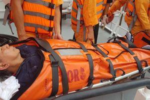 Cứu nạn khẩn cấp thuyền viên người Philippines bị tai biến trên biển