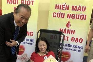 Phó Thủ tướng Trương Hòa Bình dự 'Ngày hội hiến máu cứu người – Hành Bồ Tát đạo'