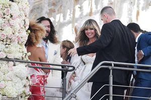 Siêu mẫu Heidi Klum đẹp quyến rũ trong tiệc cưới trên du thuyền