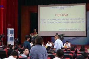 Công bố nguyên nhân về sự cố y khoa khi chạy thận tại Nghệ An