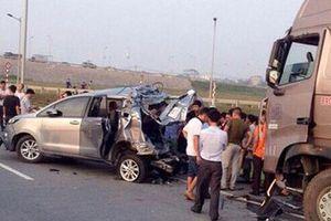 Bất ngờ trả hồ sơ vụ xe container tông xe Innova đi lùi trên cao tốc