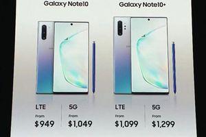 Galaxy Note10+ 5G bản cao cấp nhất có giá 1.400 USD