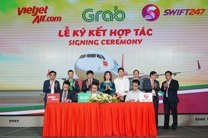 Vietjet, Swift247 và Grab cùng bắt tay hợp tác sử dụng dịch vụ