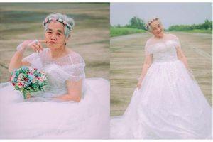 Nụ cười hạnh phúc của cụ bà 88 tuổi trong bộ ảnh 'Nội tôi mặc váy cưới'