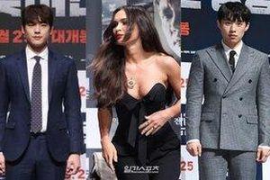 Họp báo 'Battle Of Jangsari': Minho vắng mặt, Megan Fox tự tin khoe vòng một táo bạo cạnh trai đẹp Kwak Si Yang