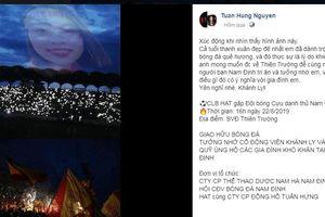 Hành động đẹp của Tuấn Hưng để tri ân nữ CĐV Nam Định gặp nạn khi đến sân