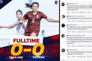 Cổ động viên Thái Lan giận dữ sau thất bại trước tuyển nữ Việt Nam