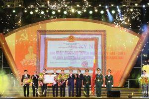 Huyện nông thôn mới đầu tiên ở Hà Tĩnh nhận Huân chương Lao động hạng Nhì