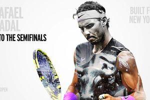 US Open: Nadal vào bán kết, cách danh hiệu Grand Slam thứ 19 đúng 2 trận thắng