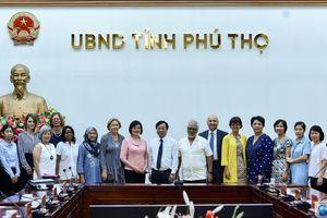 Đoàn công tác của Bộ Ngoại giao và Ngoại giao đoàn thăm và làm việc tại tỉnh Phú Thọ