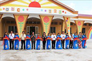 Phó Chủ tịch nước dự Lễ Khánh thành Trường Mầm non Tân Hạnh, Vĩnh Long