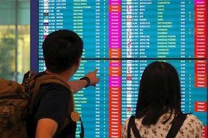 Hàng loạt chuyến bay đến Nhật bị chậm nhiều giờ vì siêu bão Faxai