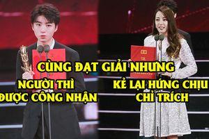 Thái độ trái ngược của dân mạng Trung dành cho Vương Tuấn Khải và Địch Lệ Nhiệt Ba khi cùng đạt giải Kim Phượng Hoàng