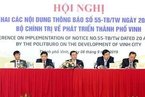 Phó Thủ tướng Vương Đình Huệ chủ trì Hội nghị về phát triển TP Vinh