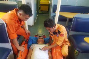 Cứu thuyền viên người nước ngoài bị bệnh nặng trên khu vực vùng biển Hoàng Sa