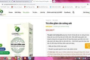 Trà Slim Cường Anh bị quảng cáo trên website giả mạo
