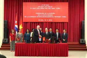 Bế mạc kỳ họp thứ 37 Ủy ban Liên Chính phủ Việt Nam – Cuba