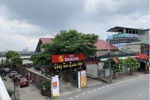 Long Biên:Nhà hàng xây dựng trái phép, vi phạm hành lang thoát lũ sông Hồng