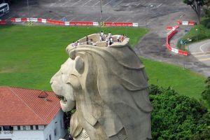 Cận cảnh tượng Sư tử biển nổi tiếng Singapore sắp bị phá dỡ