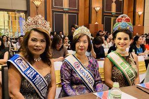 Hoa hậu Hoàn vũ thế giới 2005 đến Việt Nam dự họp báo cuộc thi Hoa hậu Kinh đô ASEAN 2020