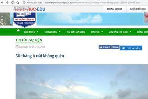 Trang web trường Tiểu học thị trấn Yên Lạc đăng tải thông tin xuyên tạc lịch sử