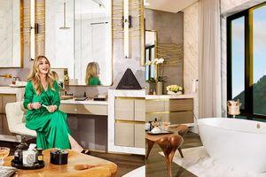 Khám phá phòng tắm lộng lẫy của 'bà trùm mỹ phẩm' Anastasia Soare