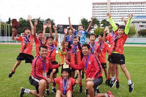Đại diện Việt Nam vô địch giải bóng đá trẻ tại Hàn Quốc