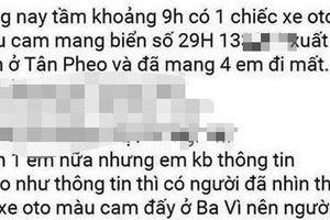 Bốn nữ sinh bị bắt cóc đưa lên xe biển kiểm soát của Hà Nội, Công an Hòa Bình nói gì về thông tin này?